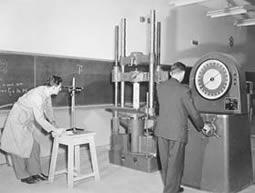 Civil Engineering's universal testing machine circa 1950