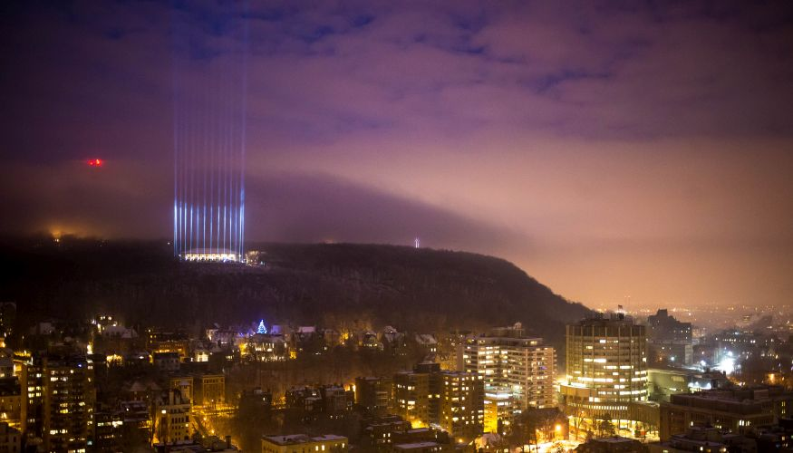 Beam of Light Ceremony in Montreal